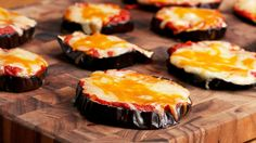 Cheesy Eggplant Pizza Serves 5-6 INGREDIENTS 1 large globe eggplant Salt Olive oil Pizza Sauce 1 jar marinara sauce ½ cup parmesan cheese ¼ cup fresh basil 1...