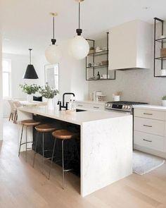 Home Decor Kitchen .Home Decor Kitchen Modern Farmhouse Kitchens, Cool Kitchens, Kitchen Modern, Minimalist Kitchen, White Kitchens, Rustic Kitchen, Beautiful Kitchens, Farmhouse Sinks, White Contemporary Kitchen