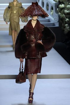 Dior AW07 conical asian hat
