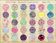 Lilly Pulitzer Inspired Vinyl Sheets 12x12 by PinkyDesign on Etsy