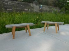 Concrete & Wood Benches