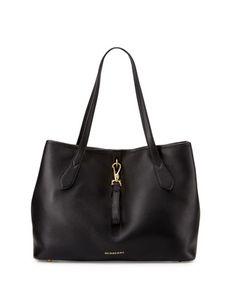 Honeybrook Medium Derby Tote Bag, Black by Burberry at Neiman Marcus.