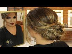 Tutorial Penteado para Casamento - Coque Baixo com acabamento delicado - YouTube