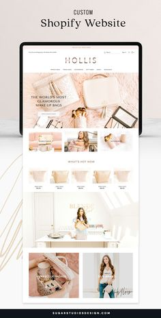 We created a custom ecommerce website for a line of luxury makeup and travel bags. The previous site design was basic and didn't reflect the quality of the products. The new Shopify website uses a modern feminine design with large product images. View the full project details on our website. Ecommerce Website Design, Website Design Layout, Blog Layout, Website Design Inspiration, Design Web, Design Trends, Luxury Website, Modern Website, Ecommerce Webdesign