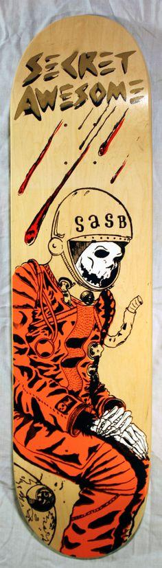 Skullstronaut Skateboard Deck