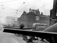 Aircraft on the streets of Liverpool, WWII