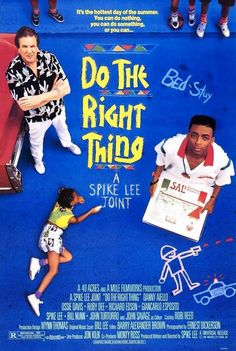 While it may be inappropriate at parts, do they right thing is a brilliant film. The writing looks at racism with a realistic perspective. That we are all racist towards everyone. This film is full poignant insights delivered through numerous minuscule vignettes. The first films with a political agenda that I didn't felt preached at. I felt amused and u felt touched