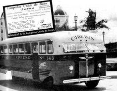 Buses frontales de Cudebús (Compañía Unida de Buses)  (Fotos :Imagen temporal de Barranquilla 100 años, publicación de la Alcaldía de Barranquilla y Transmetro y Archivo prf. Edgardo Panza)