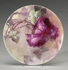 porc.FRANZ  Bischoff__ Painted porcelain plates and vases by Franz Bischoff - Fragile Beauty