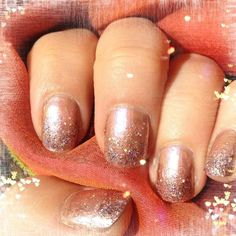 Copper #nails : #Essie Penny Talk, SH Strobe Light & #Revlon Sunstruck #glittergradient