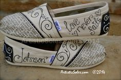 Custom TOMS Shoes What is Love Wedding Theme by ArtisticSoles