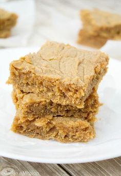 Peanut Butter Blondies taste like heaven!!! Definitely a recipe to try!