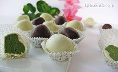 Lanýže z bílé čokolády a zeleného čaje Matcha