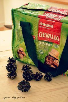 bag made of Coffee packaging.