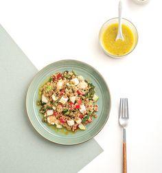 Quinoa and lentil tabouleh - www. Healthy Salads, Lentils, Food Hacks, Pasta Salad, Quinoa, Lunch, Dinner, Cooking, Ethnic Recipes