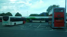 West Bromwich. Diamond Buses in Preston Bus livery. Also National Express West Midlands & Central Buses.