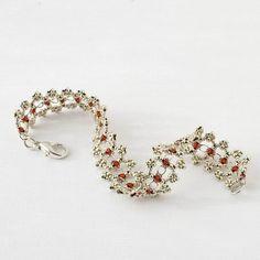 Beaded Bracelet Tutorial Ribbon Lace Digital di JewelryTales