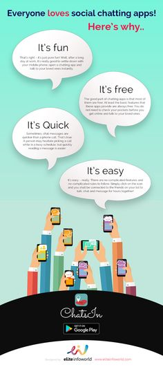 EVERYONE LOVES SOCIAL CHATTING APPS! #infographc
