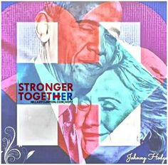 """I'm with Johnny Hodge's meme: """"This is where I'm at.""""  ....These two Democratic Leaders continue to show us that we are 'Stronger Together'!"""