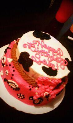 Country girl paisley pink birthday cake