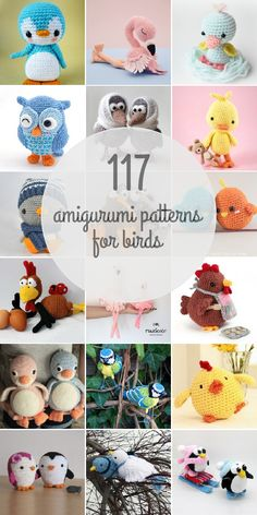 Amigurumi Patterns For Birds http://www.amigurumipatterns.net/search/birds/