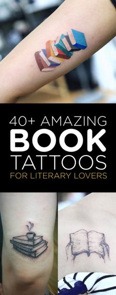 40+ Amazing Book Tattoo Designs | TattooBlend