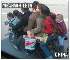 I like how somebody photo-shopped in the baby in a bucket, because 8 people on a bike just wasn't funny.