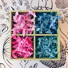 """""""They say to fold 1,000 of these if you have a wish. #abmlifeiscolorful #dsshapes #dscolor #origami"""""""