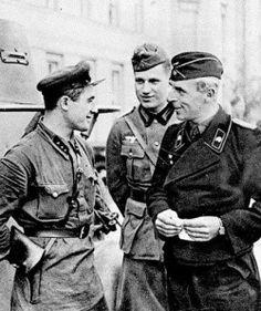 Russians and Germans meet in Brześć, Poland. September, 1939.