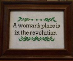 revolution Cross Stitch Patterns, Cross Stitch Designs, Embroidery Patterns, Le Point, Cross Stitching, Cross Stitch Embroidery, Textiles, Subversive Cross Stitches, Revolution