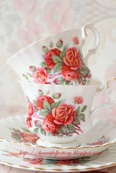 Beautiful Red Rose China by Royal Albert.