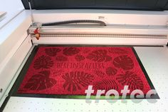 Step by step instructions: Customize conventional door mats with your Trotec laser and add extra value to this product quickly and easily. Trotec Laser, Step By Step Instructions, Textiles, Laser Engraving, Bath Mat, Door Mats, Projects, Diy, Ideas