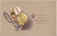 Vintage Easter  Postcard  Bonnet wearing by sharonfostervintage, $6.00