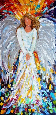 easy to paint angels on canvas | Just finished a brand new custom painting for a collector!