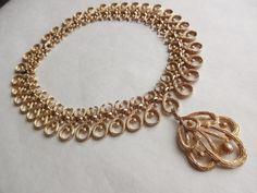 Gilded Collar Necklace by Trifari by FoundbySusan on Etsy