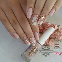 Natural Coffin Nail Art Designs Ideas are so perfect for Hope they can inspire you and read the article to get the gallery. Gel Uv Nails, Cute Nails, Pretty Nails, Hair And Nails, My Nails, Nagellack Trends, Clean Nails, Luxury Nails, Square Nails