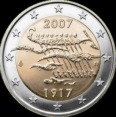 2 Euro Commemorative Coins: 2 euro coins Finland Anniversary of Finland's Independence. Commemorative 2 euro coins from Finland Piece Euro, Euro Coins, Coin Design, Gold Stock, Commemorative Coins, Proof Coins, Gold Bullion, World Coins, Coin Collecting