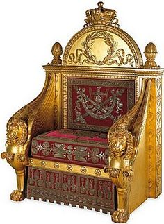 Hexagon High Emperor's throne(?) (Throne Versailles)