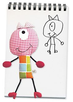 Your Child's art & Scribbles into a toy, doll or artwork on the wall!