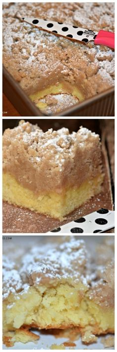 Shortcut Crumb Cake is part of Desserts Sometimes the shortcut recipes taste the best That is true in this case! This recipe comes from my friend and when I asked her for the recipe I begged her t - Brownie Desserts, Oreo Dessert, Mini Desserts, Cake Mix Desserts, Coconut Dessert, Cake Mix Recipes, Just Desserts, Baking Recipes, Delicious Desserts