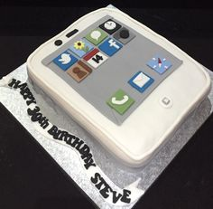iPhone themed 30th birthday cake!  Available to buy on my website - Leek, Stoke area only.