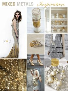 Inspiration Boards, , Gold and
