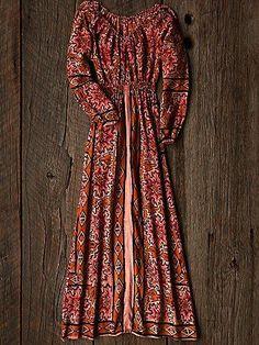 Vintage 1970s Printed Dress