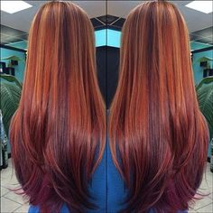 This looks just like what I did not to long ago. Multi red with caramel. Loved it. -S