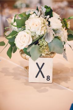 Large scrabble tiles are perfect for your wedding table numbers. A-Z plus heart, &, #, ! and more.