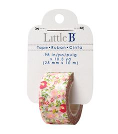 Little B Floral Decorative Paper Tape 25mmx10mm