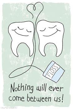 come between us dental pun valentine - Tooth Decay Dental Puns, Dentist Humor, Dental Art, Dental Hygienist, Dental Implants, Dental Surgery, Dentist Cartoon, Dental Humour, Funny Dentist