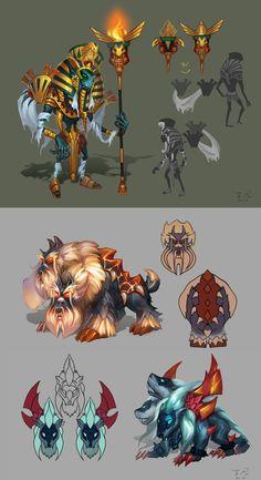 Q version 3head [hell]dogs, zinna Du on ArtStation at https://www.artstation.com/artwork/q-version-3head-hell-dogs