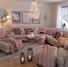 Having small living room can be one of all your problem about decoration home. To solve that, you will create the illusion of a larger space and painting your small living room with bright colors c… Living Room Decor Cozy, Small Living Rooms, Home Living Room, Apartment Living, Stylish Living Rooms, Chandelier For Living Room, Living Room No Couch, Living Room Ideas Small Apartment, Modern Living