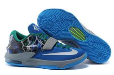 WMNS KD 7 GS ID Lightning Uprising Lacquer Blue Green Silver Kd Shoes ca3f15d24
